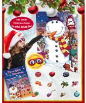 Pin The Nose On The Snowman Christmas Game